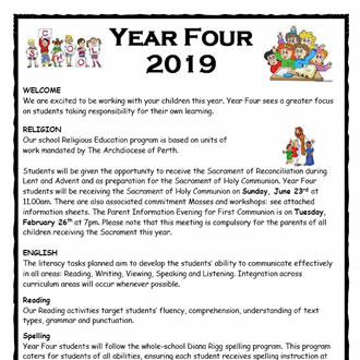 Year 4 Parent Information