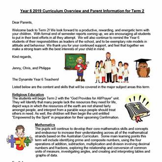 Year 6  Curriculum Update