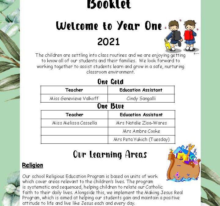 Year 1 Parent Information