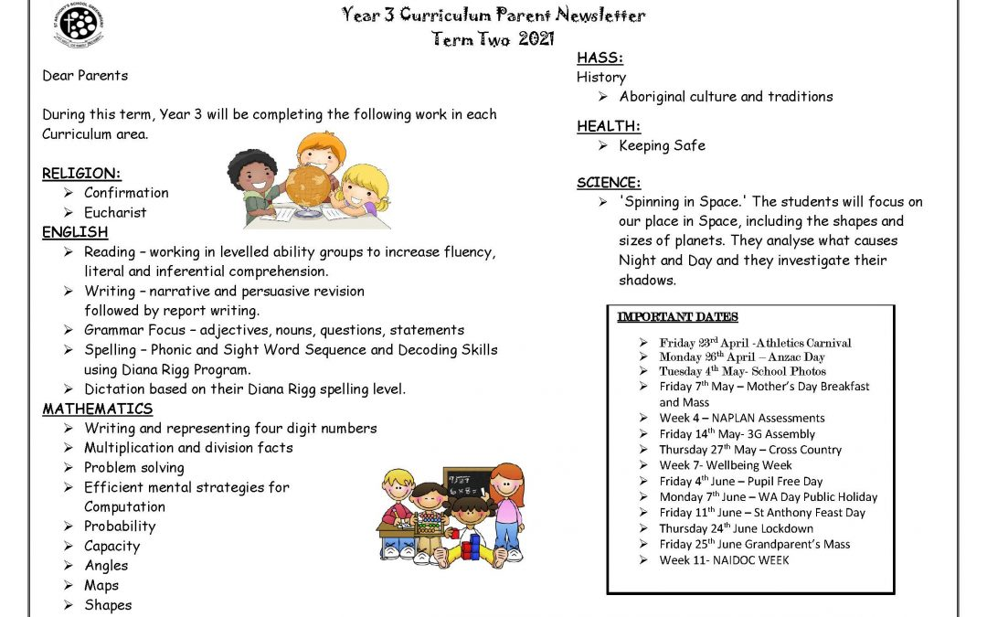 Year 3 Curriculum Overview Term 2
