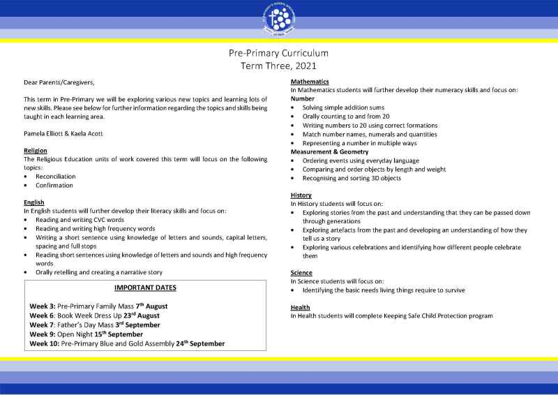 PP Curriculum Overview Term 3